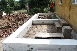 Как сделать фундамент пристроя к деревянному дому