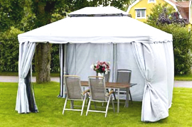 Вариант шатера для дачи