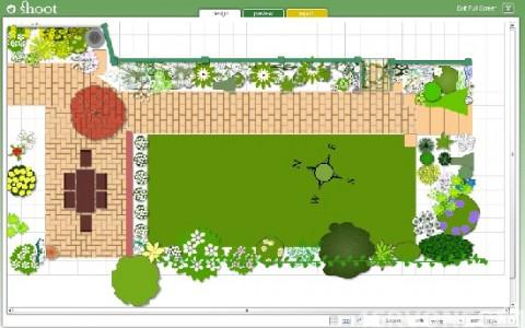 Окно приложения для планирования расположения огорода