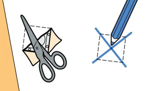 Разрезание обоев крест-накрест