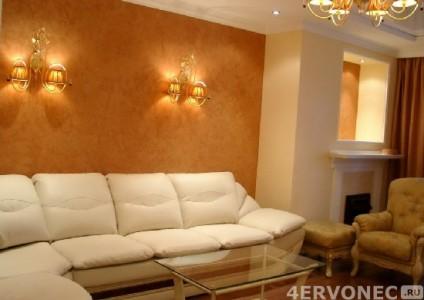 Декоративная краска в гостиной