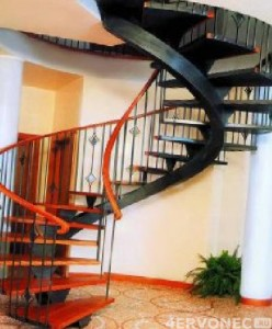 винтовая лестница на 2 этаж