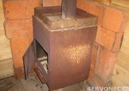 Готовая металическая печь