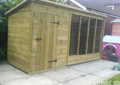 Преимущественно деревянная конструкция