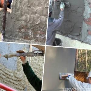 Накладывание фасадной штукатурки