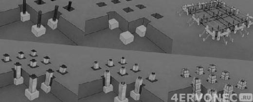 Схема последовательности строительства фундамента