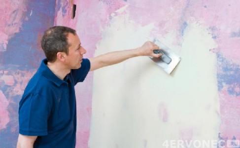 Шпатлевание стен