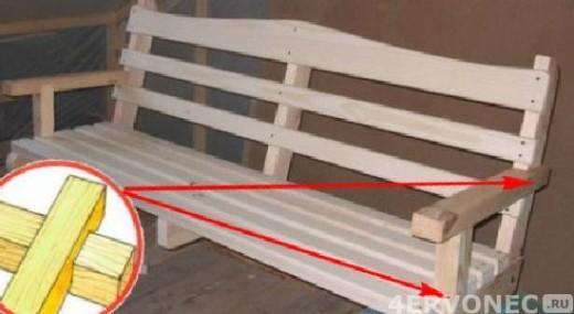 сиденье и спинка качели