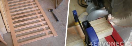 Заготовка и установка реек в боковины