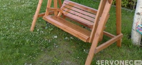 Соорудить деревянные качели для сада
