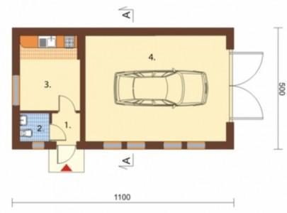 гараж с жилыми комнатами