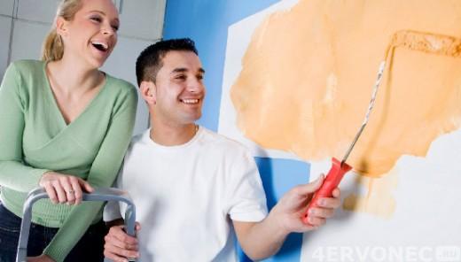 Выбор варианта покраски стен