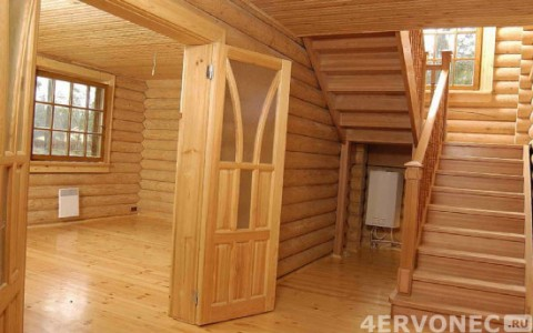 Отделка дома материалами только из древесины