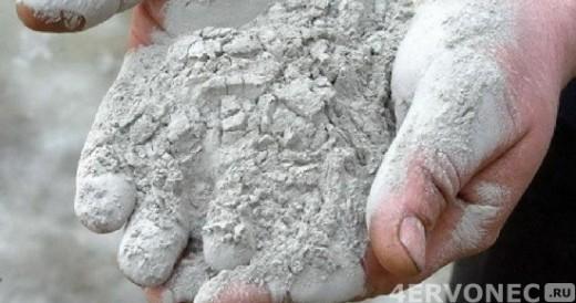 Цемент - это серое однородное вещество