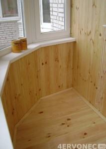 Вид балкона после обработки поверхности