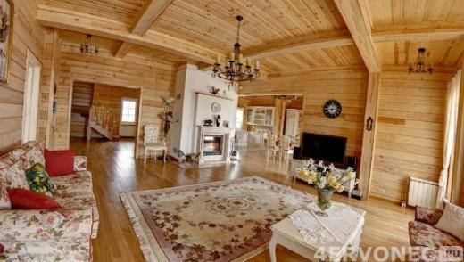 Фото интерьера дома в стиле русской избы