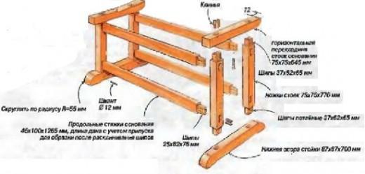 чертежи конструкции верстака