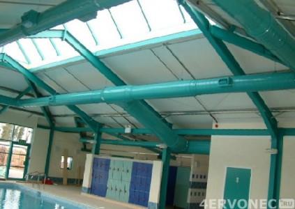 Структура вытяжки над бассейном