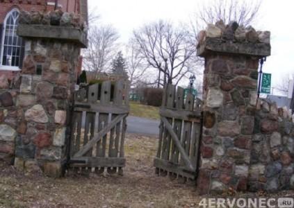 Забор с использованием связывающего раствора