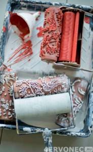 Необходимые материалы для нанесения структурной краски