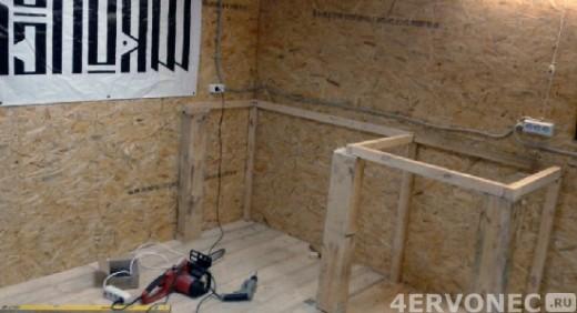 деревянный верстак в гараже