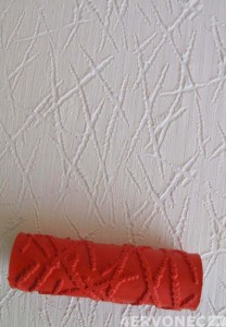 Рельеф при помощи текстурного валика