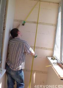 Замеры поверхностей балкона