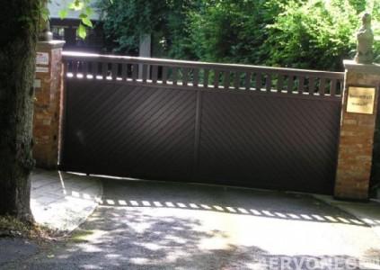Современные сдвижные ворота