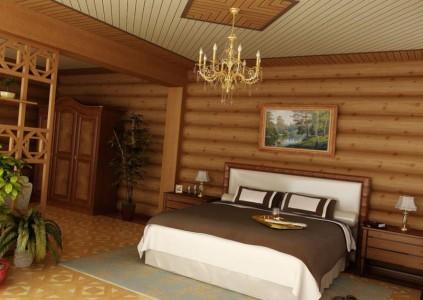 Отделка стен блок-хаусом и вагонка на потолке