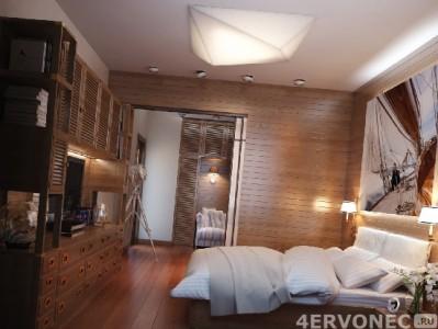 Вагонка для спальни в экологичном стиле