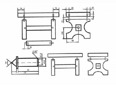 Упрощенный чертеж банной лавки