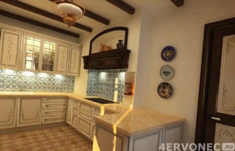 Облицовка фартука кухни плиткой