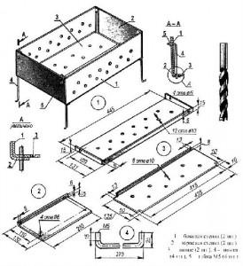 схема конструкции мангала