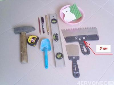 Необходимые инструменты при облицовке плиткой