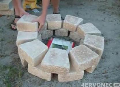 основание для каменного мангала