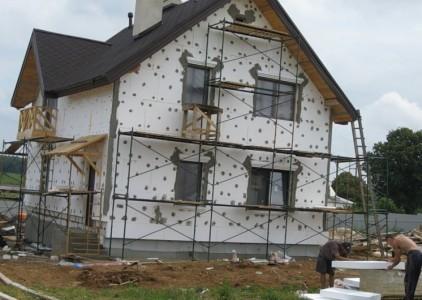 Утепление фасадов дома пенополистиролом