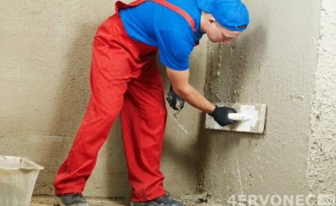 Выравнивание поверхности стен ванной
