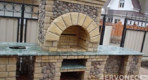 отделка каменного мангала