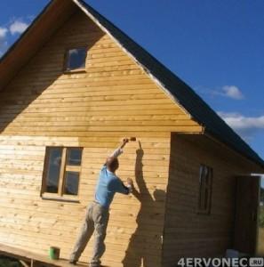 Обработка деревянного фасада перед созданием обрешетки