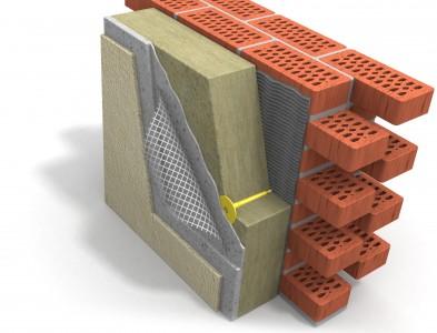Послойная схема «мокрого фасада»