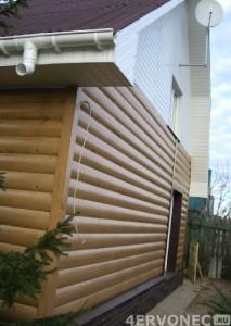 Монтаж блок-хауса на фасад