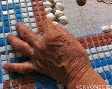 Выкладка узоров и важнейших фрагментов мозаики