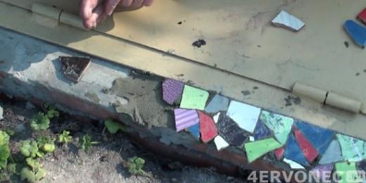 Выкладка отдельных фрагментов мозаики