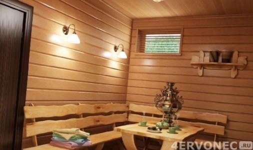 Имитация бруса для отделки комнаты отдыха