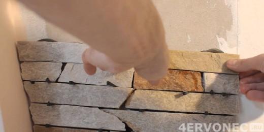 Разделение искусственного камня распорками