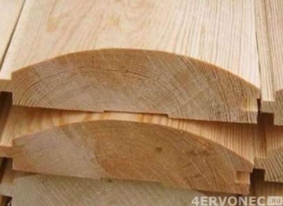 Блок-хаус из древесины в разрезе