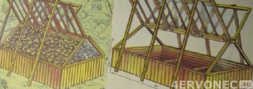 парник с двухскатной крышей