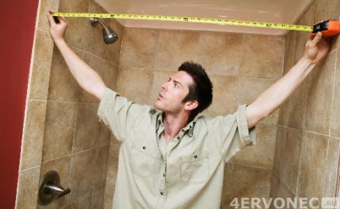 Замер стен ванной комнаты