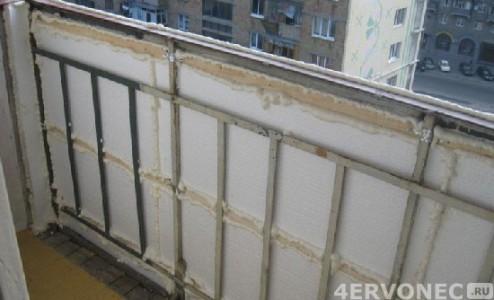 Обшивка балкона снаружи теплоизоляционным материалом