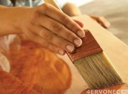 обработка лаком листов фанеры